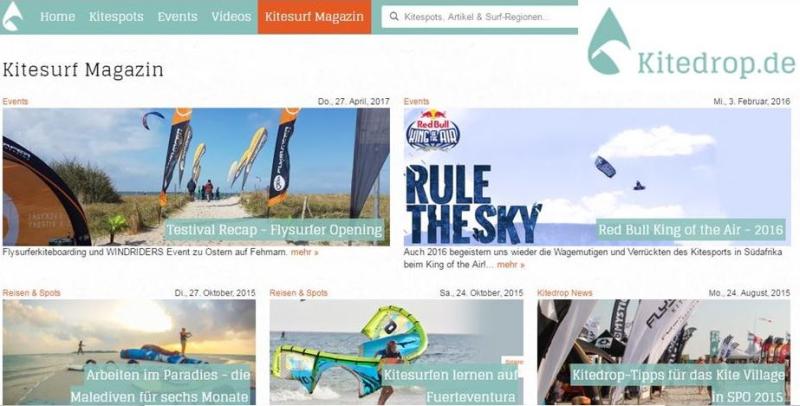 Kitedrop.de ist unser neuer Kooperationspartner