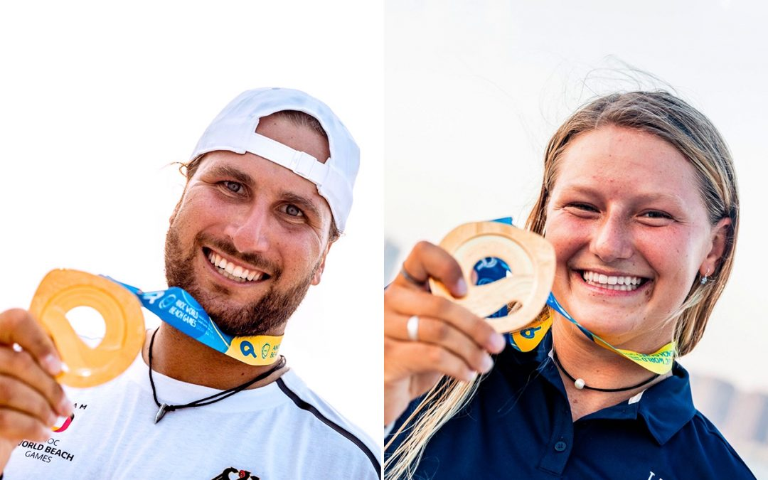 Historic gold medals for Gruber and Moroz